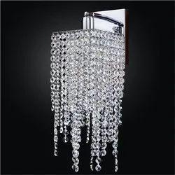 Warm White Glass Crystal Wall Light