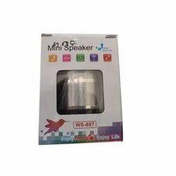 2.0 Plastic WS-887 Mini Portable Speaker
