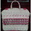 Bamboo Pink Jali Picnic Bag