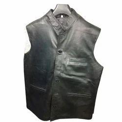 Black Leather Waistcoats