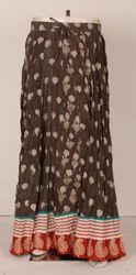 Rapid Block Cotton Long Skirts