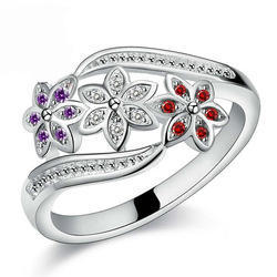 Silver Fashion Crystal Ring Fashion 925 Silver Ring