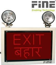 Industrial Emergency Light Exit Bahar Sign