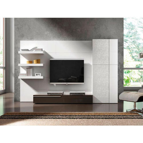White And Brown Led Tv Cabinet Rs 1200 Square Feet Sm