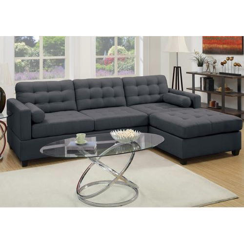 Black L Size Sofa Set