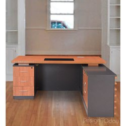 Design Today Brown and Black Antique Wooden Table