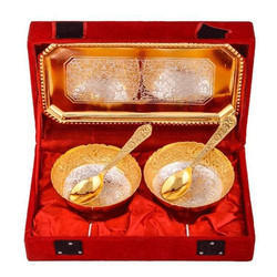 Decorative Mini Silver Gold Plated Bowl Set