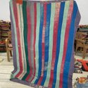 Striped Vintage Kantha Quilt