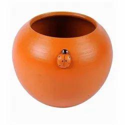 Orange Terracotta Flower Pot for Decoration