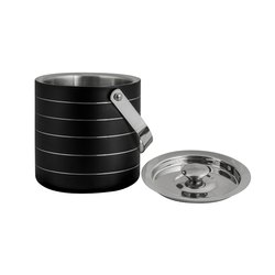 Black Color Stainless Steel Double Wall Ice Bucket