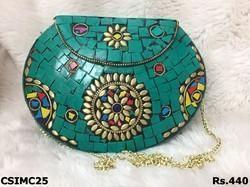 Green Mosaic Clutch