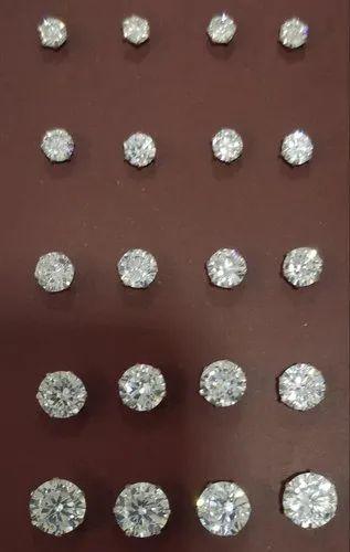 92 5 Silver Nosepin Diamond Type American Diamond Rs 50 Piece