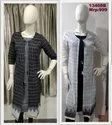 13408 Handloom with border Kurta