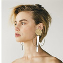 Fashion Geometric Minimalist Gold Plated Earring For Women