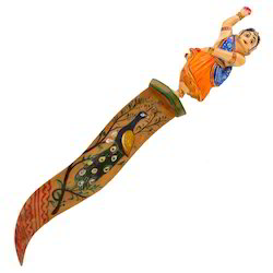 Wooden Painted Paper Cutter With Doll Handle
