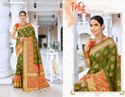 Ethnic Stylish Green Designer Bridal Saree