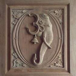Brown Wooden Carving Art