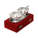 Silver Coated Brass Bowl Gift Set