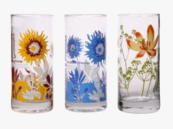 Transparent Printed Fancy Glass Tumblers for Home, Capacity: 200-350ml