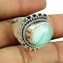 Blue Topaz Lapis 925 Sterling Silver Ring