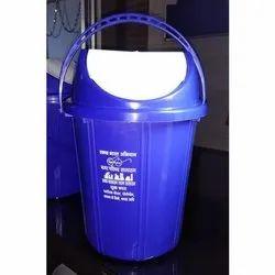 Blue Plastic Swing Dustbin