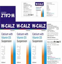 Calcium Carbonate Zinc Vitamin D3 Suspension