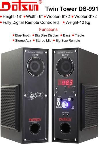 Dotsun Tower Speaker Ds 991 1800 Watts Pmpo