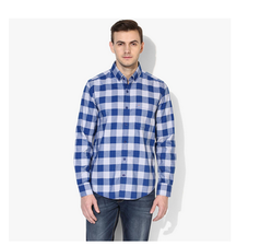 40 And 42 Blue And White Blue And Off White Checks Shirtregular Fit Casual
