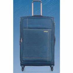 Plain Blue Safari Luggage Bag, For Travelling