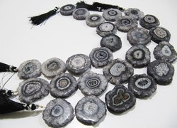 Gray Solar Quartz Beads Gray Beads .