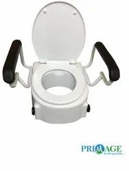White For Oval Shaped Commodes 5 Inch Toilet Seat Elevator, for Bathroom Fitting