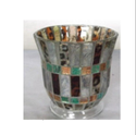 Big Mosaic Glass Candle Holder