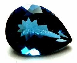 London Blue Topaz Faceted Gemstone For Jewelry