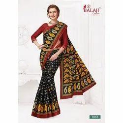 3f53c0a488 Balaji Cotton Party wear Ladies Bandhani Saree, Machine Made, 6.3 M (with  Blouse