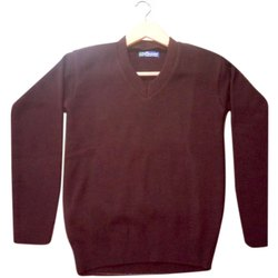 Mahroon Plain School Sweater
