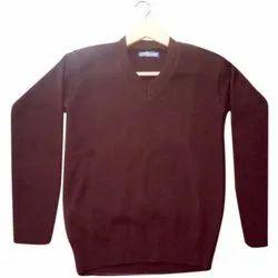 Winter Unisex Mahroon Plain School Sweater