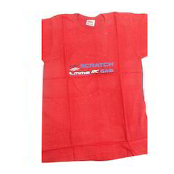 Mens Round Neck Red T Shirt, Size: M-L