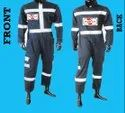 Real Safe Grey, Blue And Orange Flame Retardent Suit, For Fire Safety