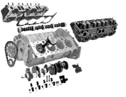 Greaves 355-430 Hp Tbd3v8 Engine Spare Parts