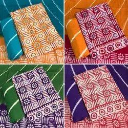 Unstitched Wax Batik Embroidery Suit