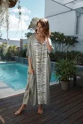 Gypsy Tie Dye Kaftan with Pockets