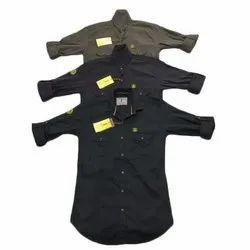 Clothqne Cotton Indigo Mens Shirt