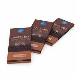 Aadvik Rectangular Camel Milk Chocolate Almonds 50g