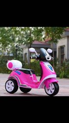 3 - 9 Year Plastic Kids Pink Three Wheel Ride On Scooter