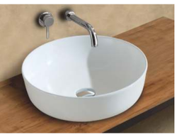 Mozio Italian Ceramic Piper Table Top Wall Hung Basin for Home, Model Name/Number: P4400
