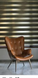Modern Brown Single Chair, for Home