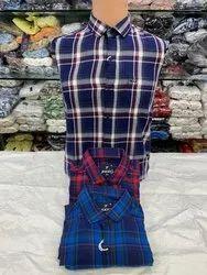 Men Check Print Cotton Shirt