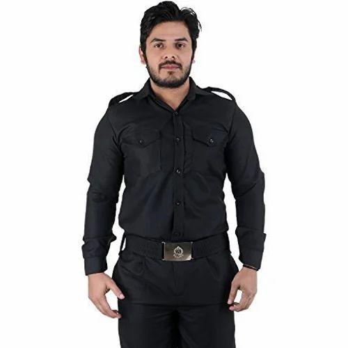 503a1634 Black Cotton Security Guard Uniform, Rs 650 /set, Digambar Art And ...