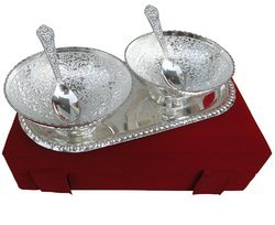 Wedding Gift Silver Plated Bowl Set
