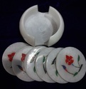 Marble Decorative Coaster Set